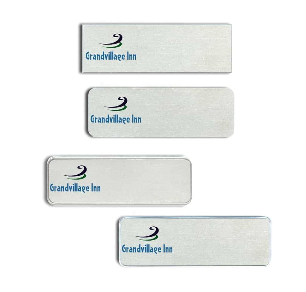Grandvillage Inn Name Tags Badges