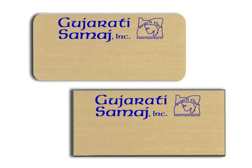 Gujarati Samaj Inc Name Tags Badges
