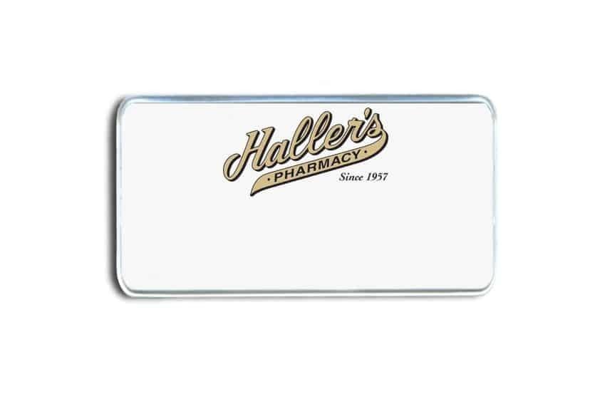 Haller's Pharmacy Name Badges