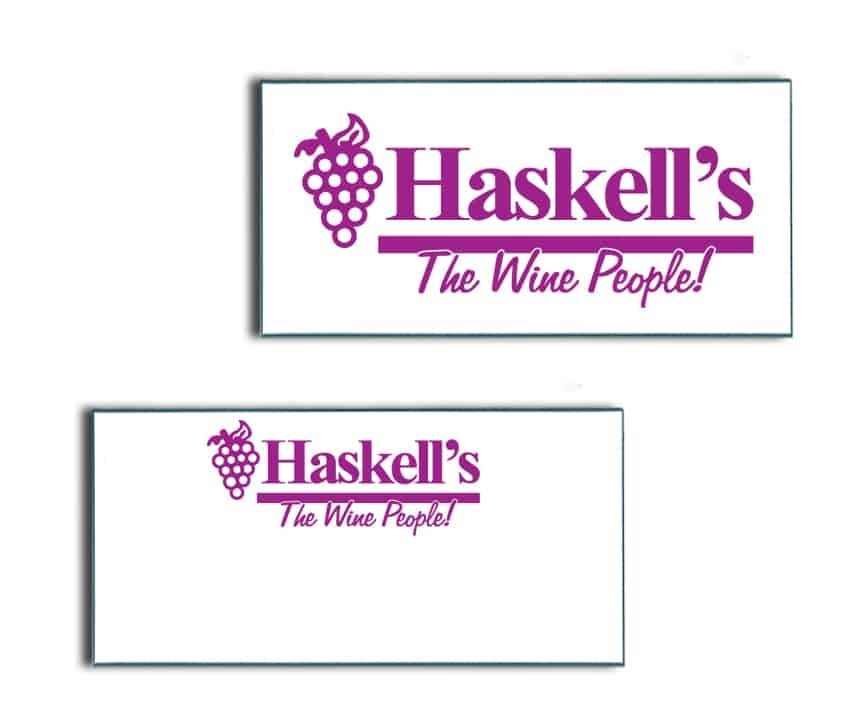 Haskell's Wine Name Badges