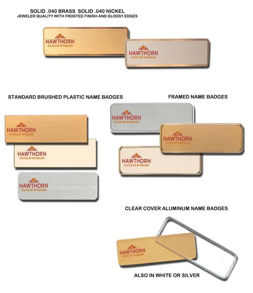 Hawthorn Suites Name Tags Badges