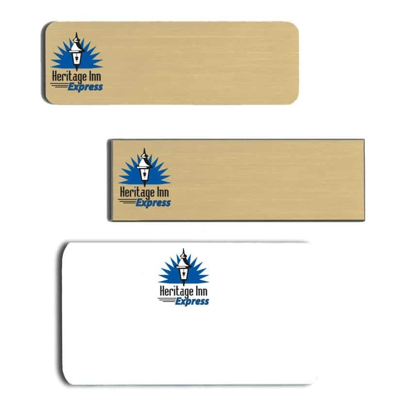 Heritage Inn Express Name Tags Badges