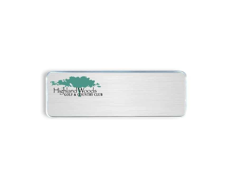 Highland Woods Country Club Name Badges