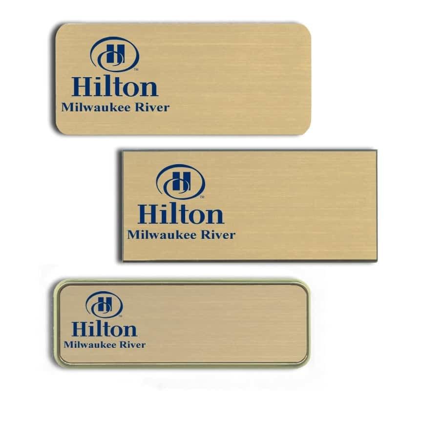 Hilton Milwaukee River Name Tags Badges
