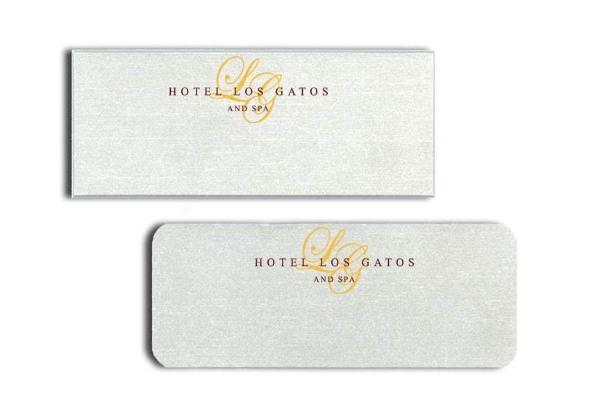 Hotel Los Gatos Name Tags Badges