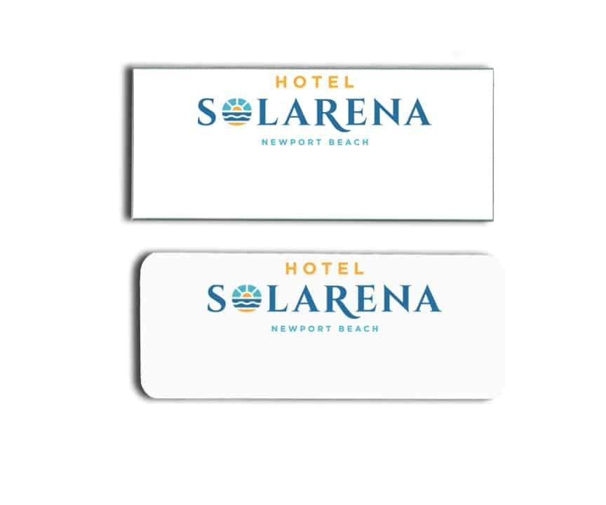 Hotel Solarena name badges