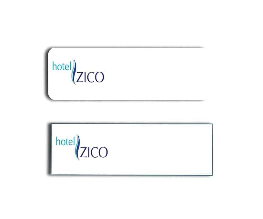 Hotel Zico Name Tags Badges