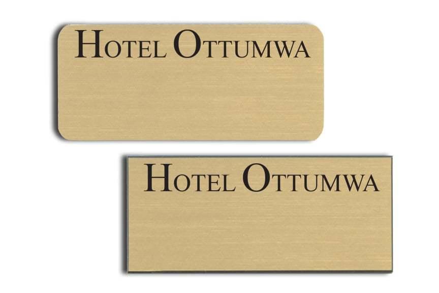 Hotel Ottumwa name badges