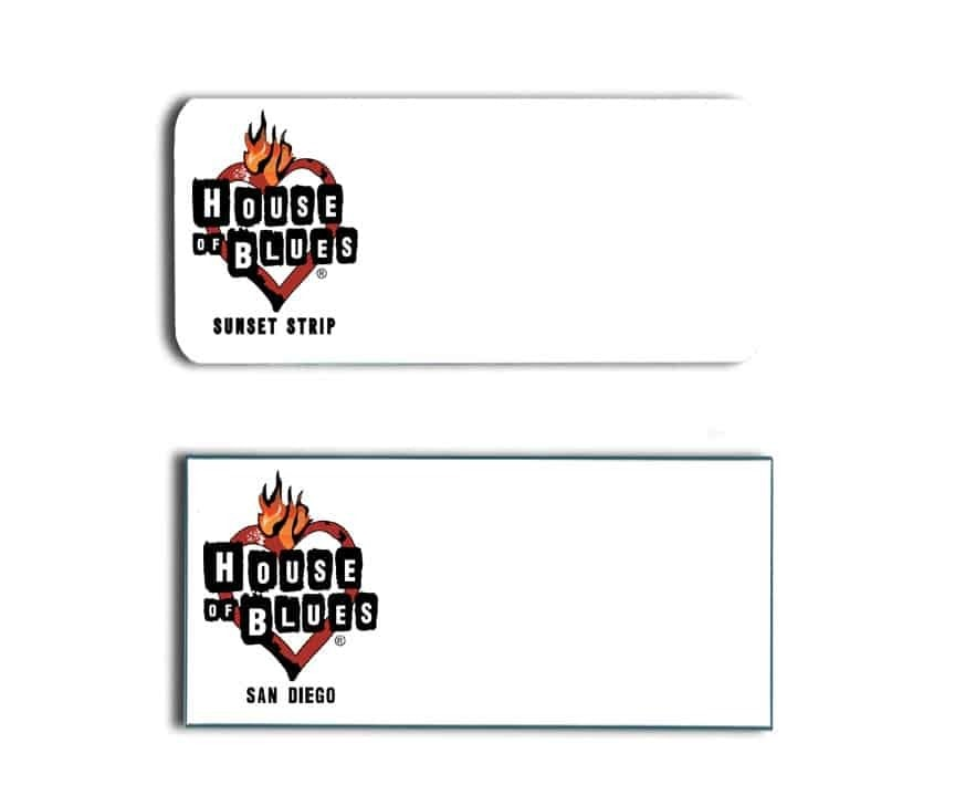House of Blues Name Tags Badges
