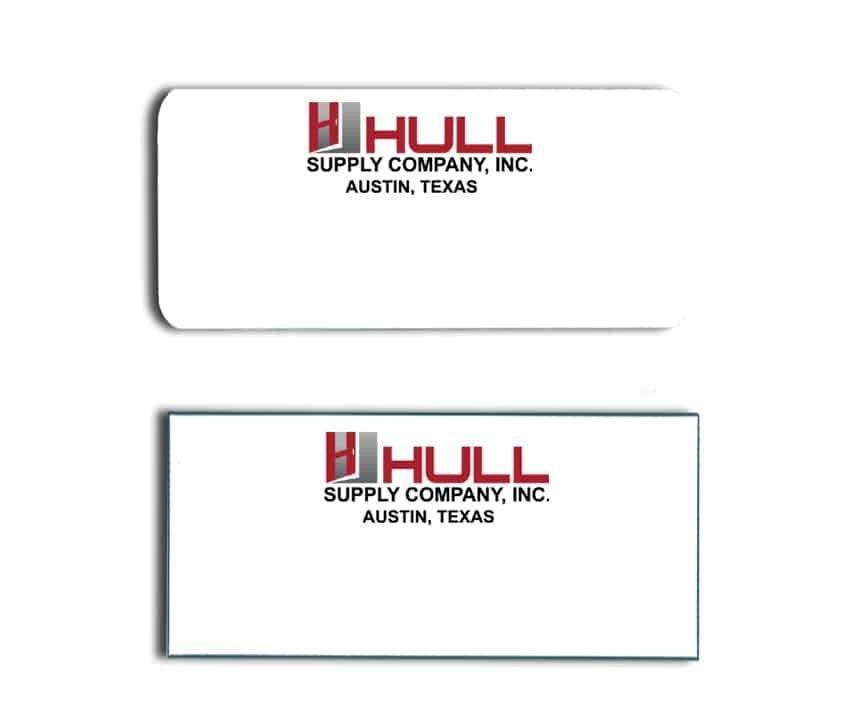 Hull Supply name badges tags