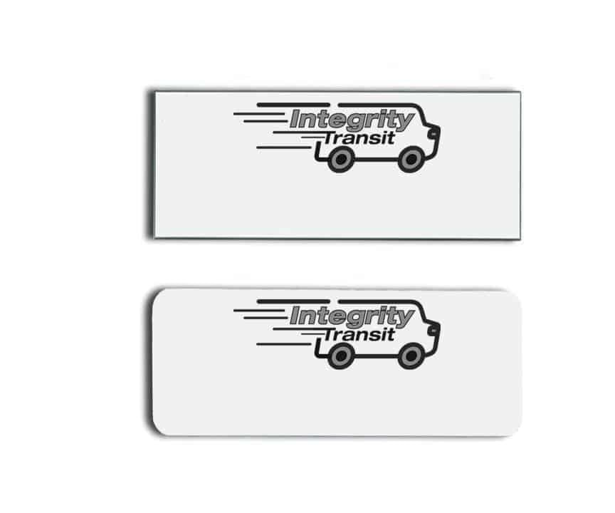 Integrity Transit name badges tags