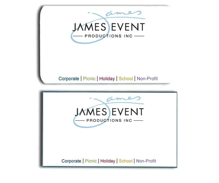 James Event Productions Inc Name Tags Badges