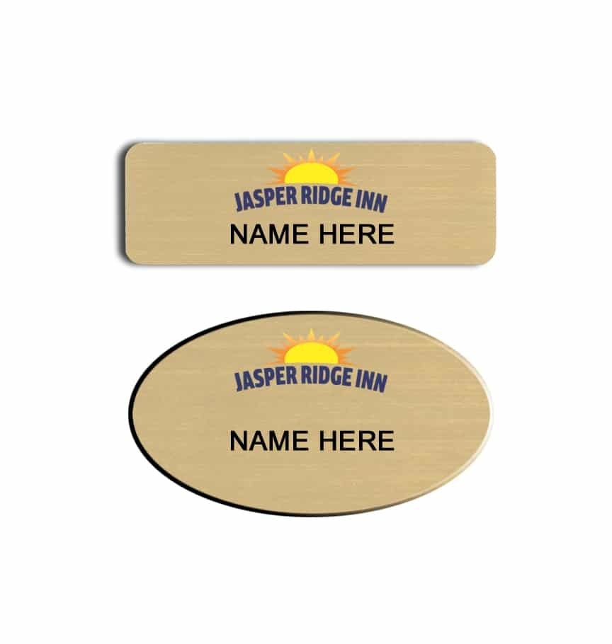 Jasper Ridge Inn name badges tags