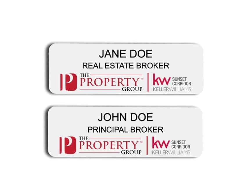 Keller Williams name badges