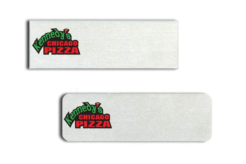 Kennedy's Chicago Pizza Name Tags Badges