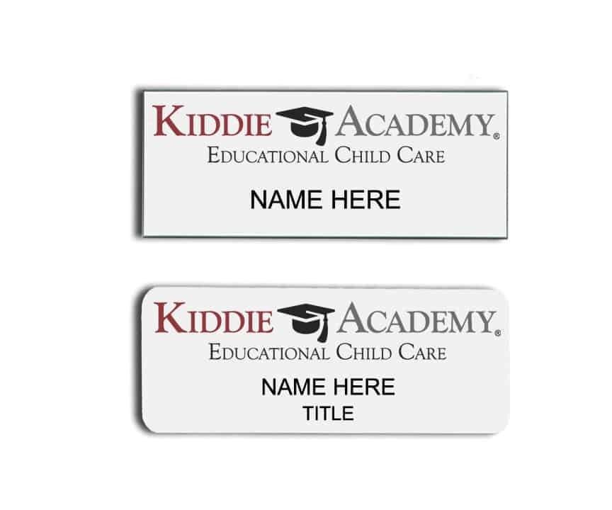 Kiddie Academy name badges