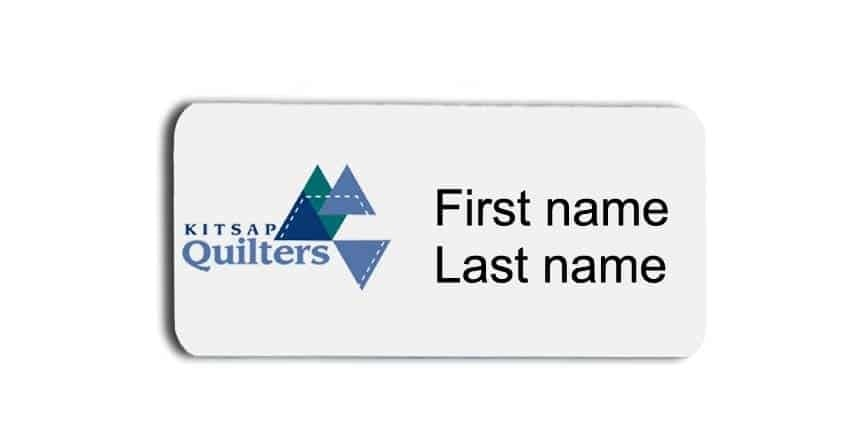 Kitsap Quilters name badges tags