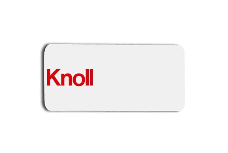 Knoll name badges tags