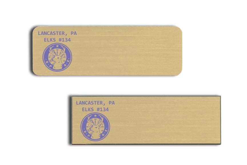 Lancaster Elks Name Badges