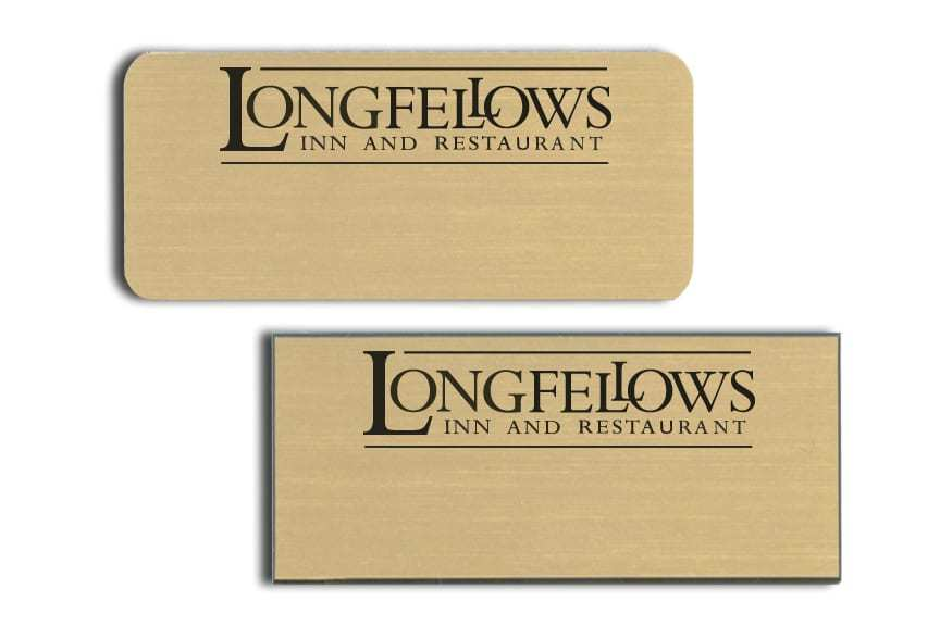 Longfellows Inn and Restaurant Name Tags Badges