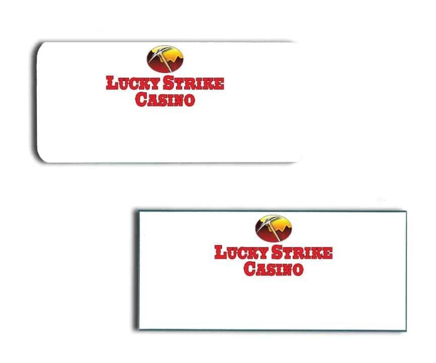 Lucky Strike Casino name badges