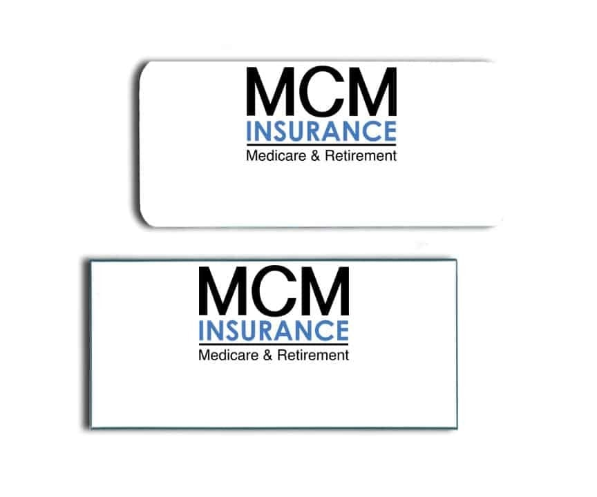 MCM Insurance Name Badges