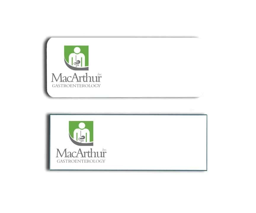 MacArthur Gastroenterology name badges