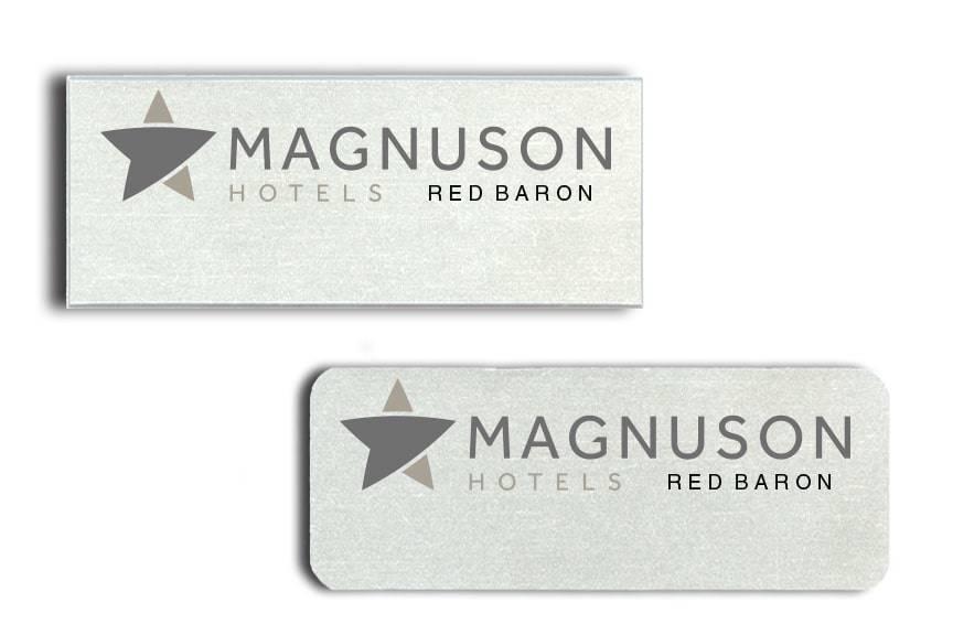 Magnuson Hotel Red Baron name badges