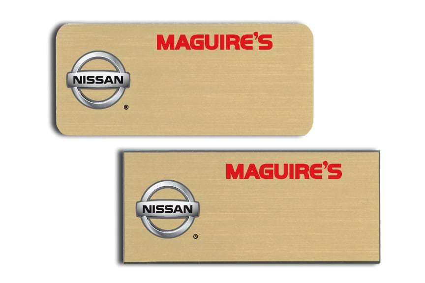 Maguire's Nissan Name Tags Badges