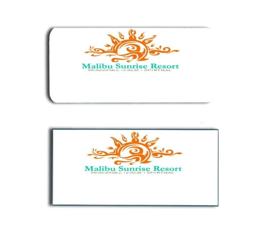 Malibu Sunrise Resort Name Tags Badges