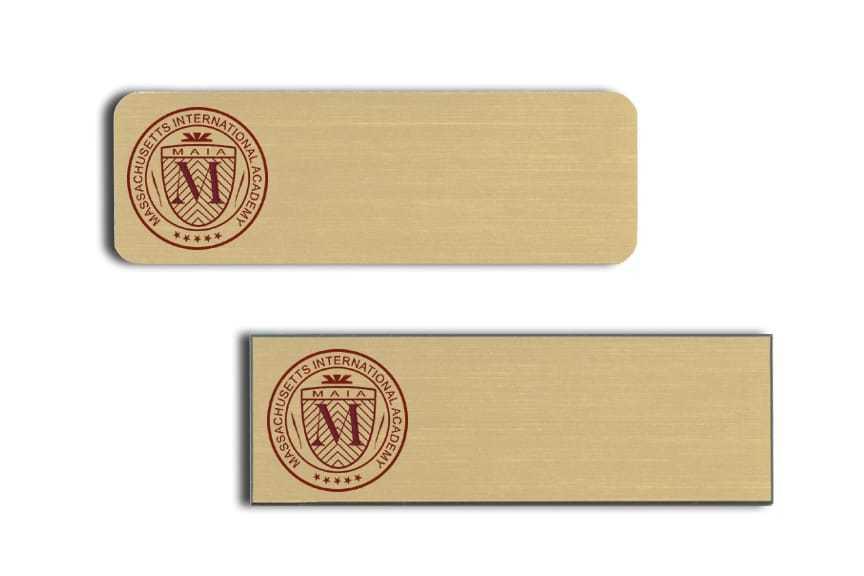 Massachusettes International Academy Name Tags Badges