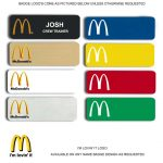 Mcdonalds Name Tags Badges