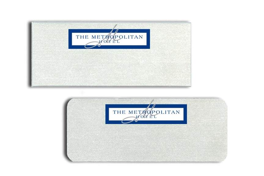 Metropolitan Hotel Name Tags Badges