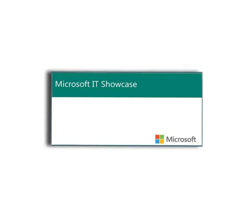 Microsoft Name Tags Badges