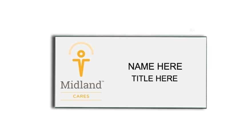 Midland Cares name badges