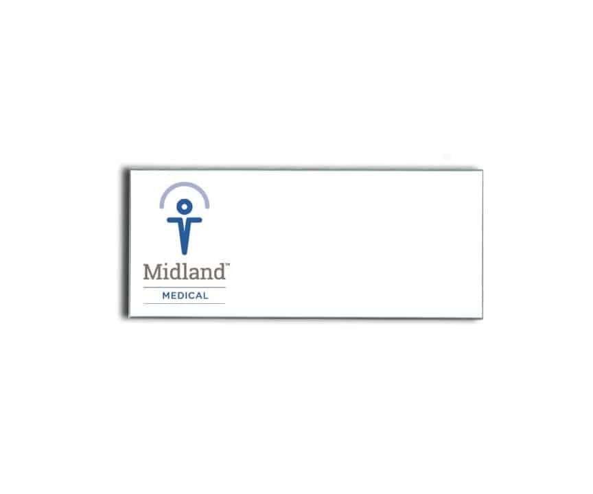 Midland Medical name badges tags