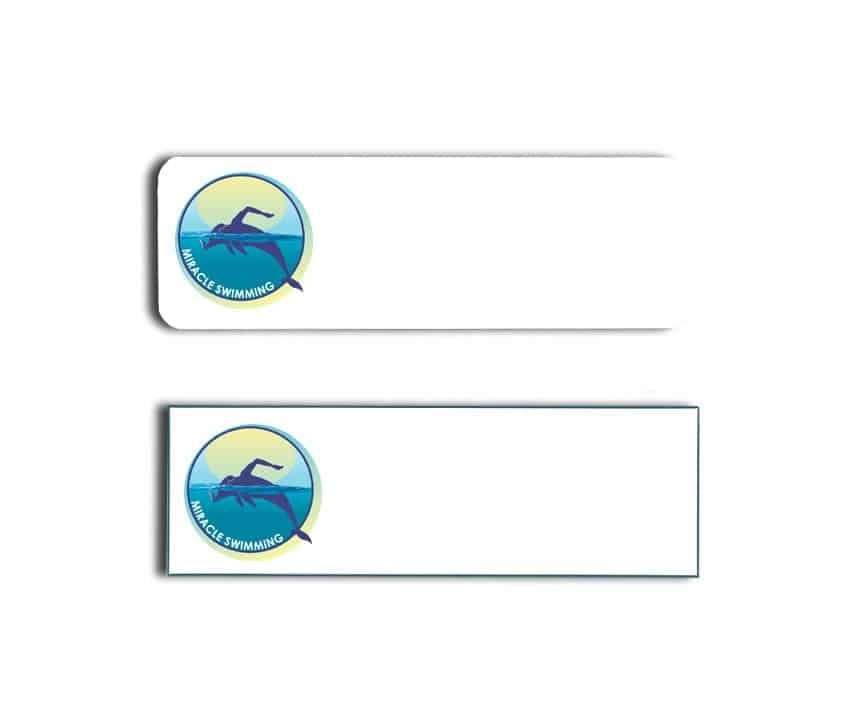 Miracle Swimming Name Tags Badges