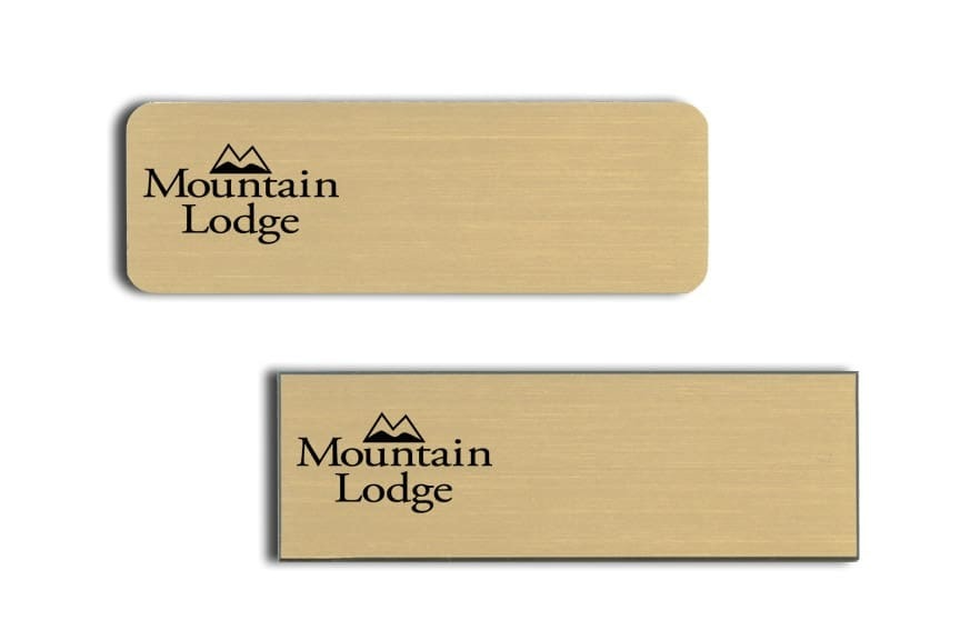 Mountain Lodge Name Tags Badges