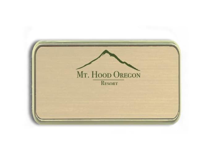 Mt. Hood Resort name badges tags