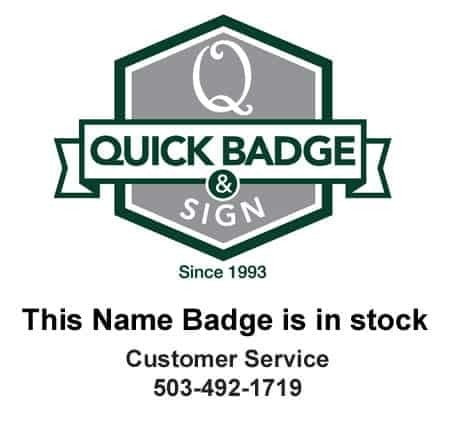 Marina Cay Name Tags Badges