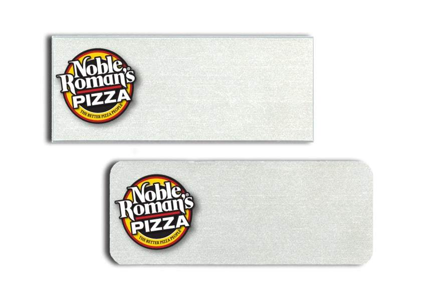 Noble Romans Pizza Name Tags Badges