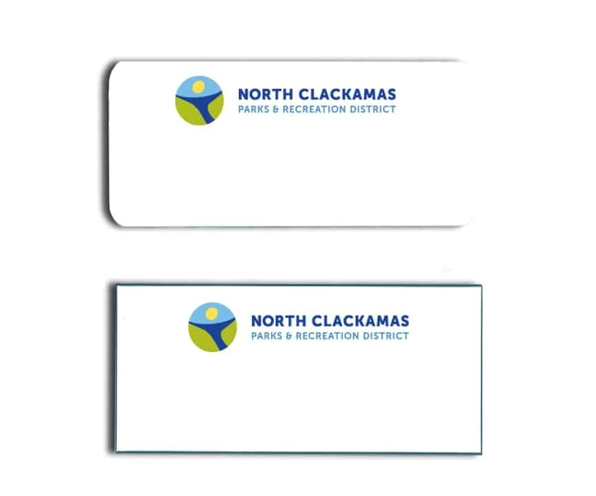 North Clackamas Parks and Rec Name Tags