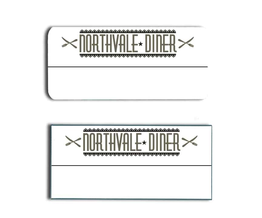 Northvale Diner name tags badges