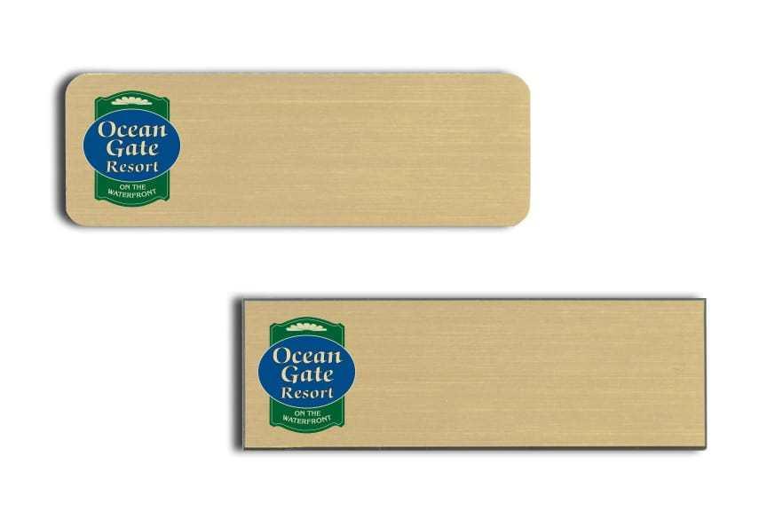 Ocean Gate Resort name badges