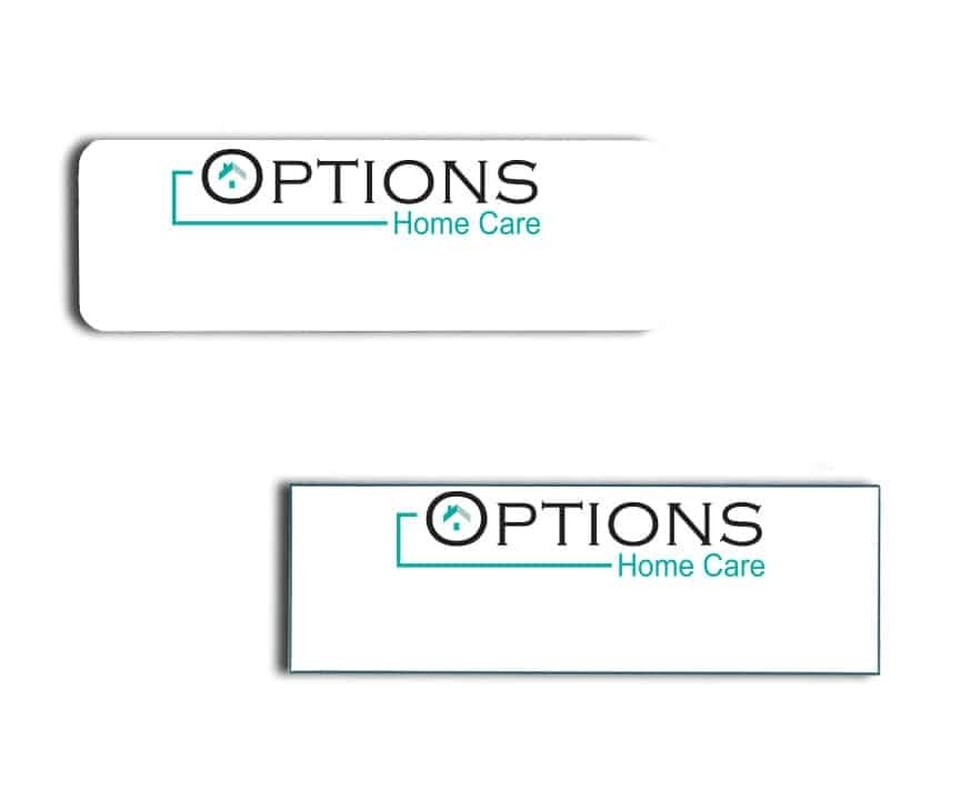 Options Home Care name badges