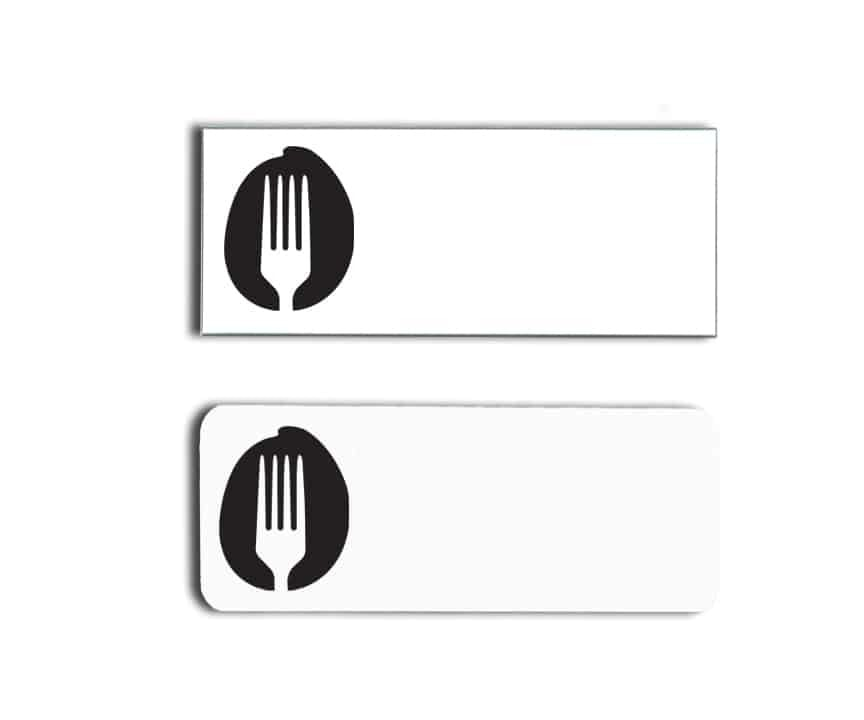 Organic Fork Name Badges