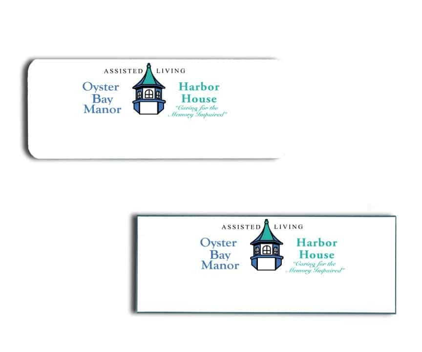 Oyster Bay Manor name badges