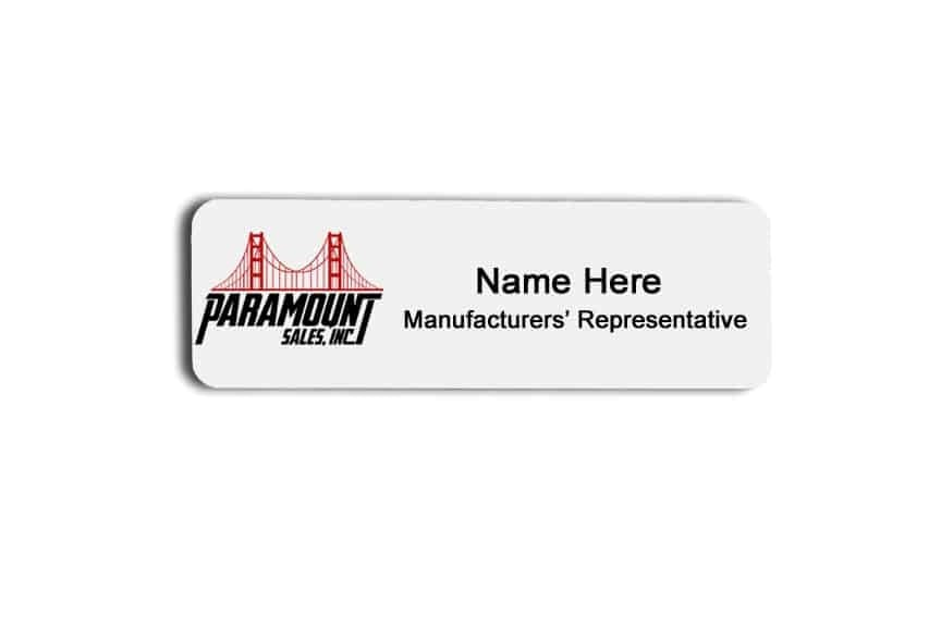 Paramount Sales name badges