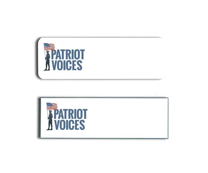 Patriot Voices Name Badges Tags