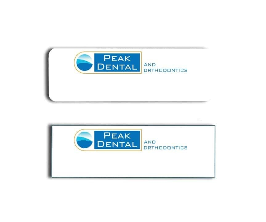 Peak Dental Name Badges
